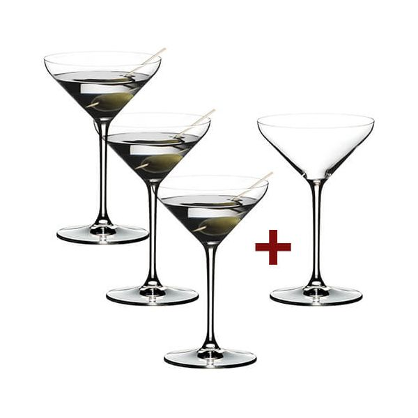 Riedel Extreme Martini 4 for 3 Glasses