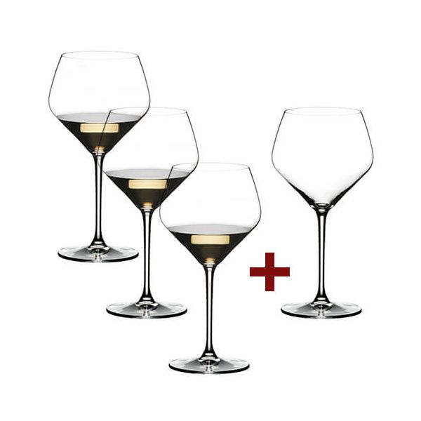 Riedel Extreme Oaked Chardonnay 4 for 3 Glasses