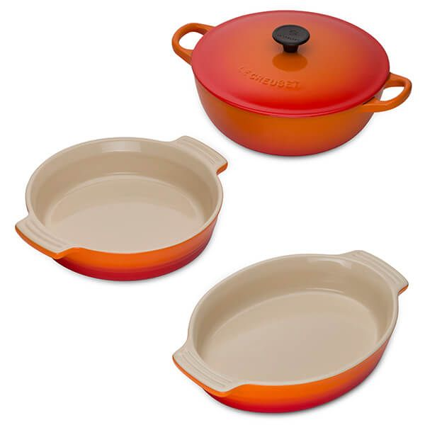 Le Creuset Volcanic 3 Piece Mixed Cookware Set Black Friday 2019