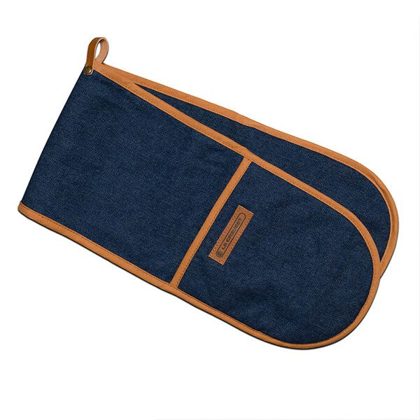 Le Creuset Denim Double Oven Glove