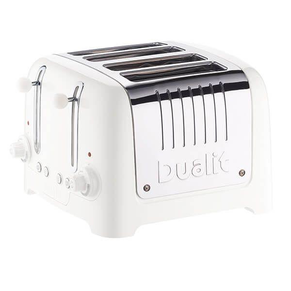 Dualit Lite 4 Slot Toaster White