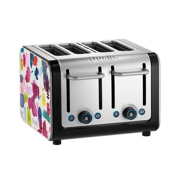 Dualit Architect 4 Slot Black Body With Bluebellgray Panel Toaster