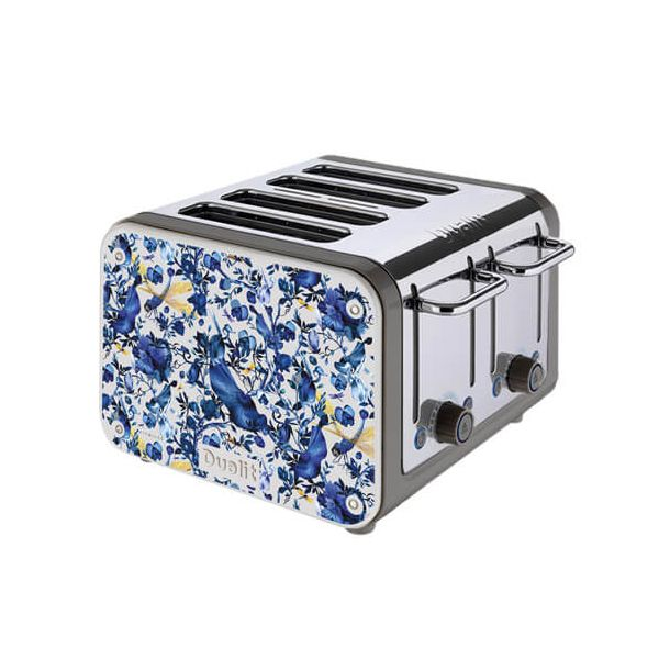 Dualit Architect 4 Slot Black Body With Miles Biophillia Panel Toaster