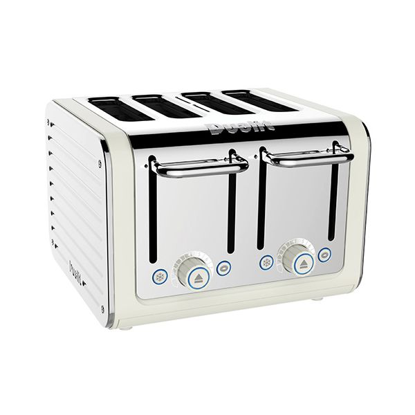 Dualit Architect 4 Slot Canvas Body With White Panel Toaster