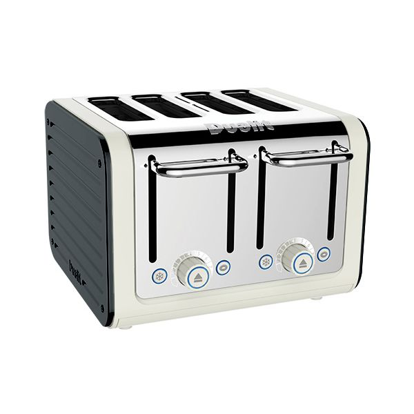 Dualit Architect 4 Slot Canvas Body With Metallic Charcoal Panel Toaster