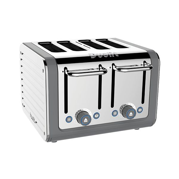 Dualit Architect 4 Slot Grey Body With Stainless Steel Panel Toaster