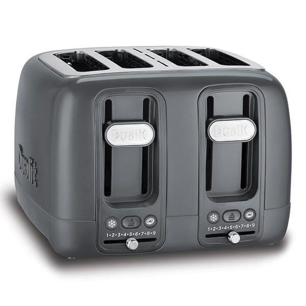 Dualit 4 Slot Domus Toaster Grey