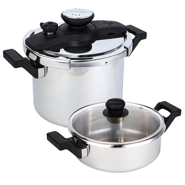 Prestige Stainless Steel Pressure Cooker 4 Piece Set