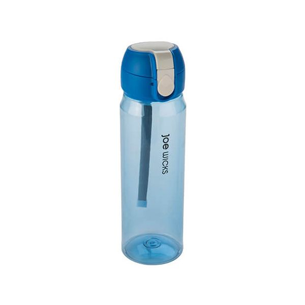 Joe Wicks Clip One Touch Bottle Blue 550ml
