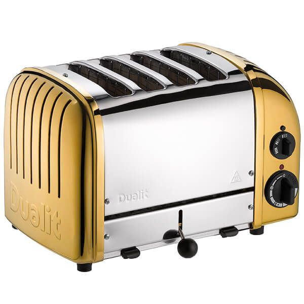 Dualit Classic Vario AWS Brass 4 Slot Toaster With Free Gift