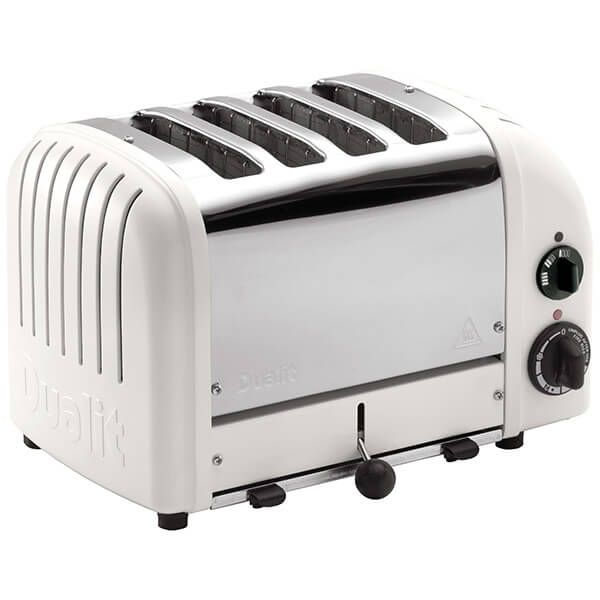 Dualit Classic Vario AWS Matte Porcelain 4 Slot Toaster With Free Gift