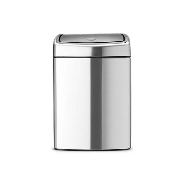 Brabantia 10 Litre Rectangular Touch Bin Matt Steel Fingerprint Proof