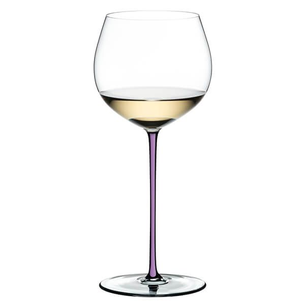 Riedel Hand Made Fatto a Mano Oaked Chardonnay Wine Glass Violet