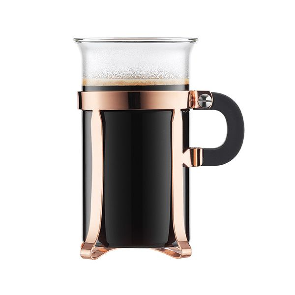 Bodum Chambord Copper Finish Coffee Glass Set Of 2