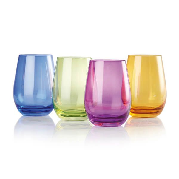 Le Creuset Set of Four Coloured Tumblers