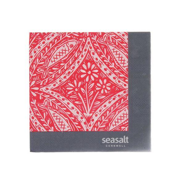 Seasalt Poisson Paper Napkins Pack of 20