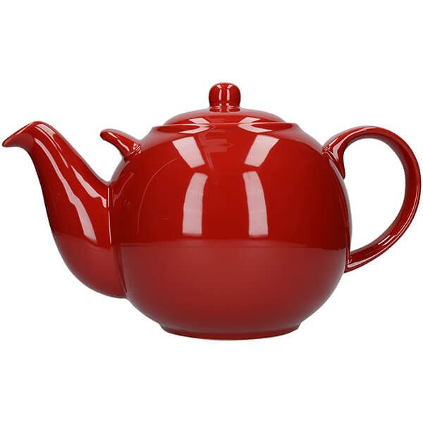 London Pottery Globe 10 Cup Teapot Red