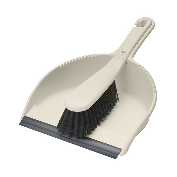 Addis Soft Bristle Dustpan Set Linen