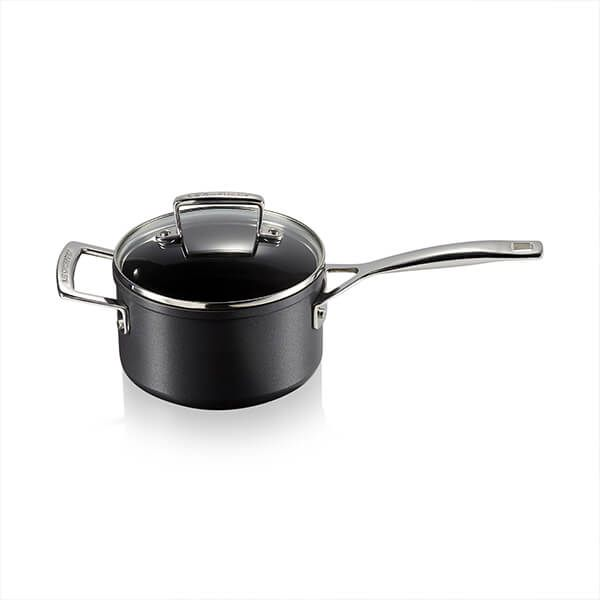 Le Creuset Toughened Non-Stick 16cm Saucepan with Glass Lid