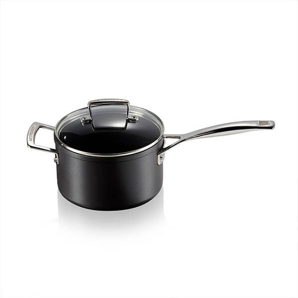 Le Creuset Toughened Non-Stick 18cm Saucepan with Glass Lid