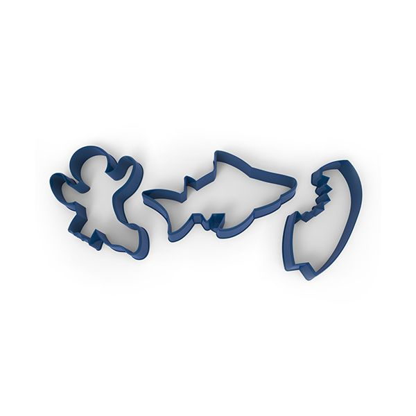 Fred Snack Attack Set Of 3 Cookie Cutters