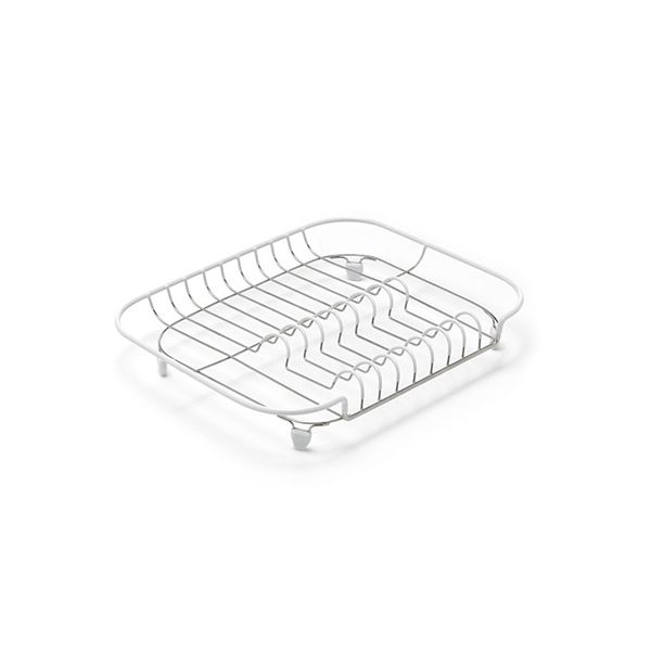 Addis Compact Draining Rack White / Stainless Steel