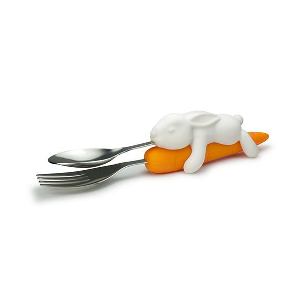 Fred Snack Rabbit Childrens Cutlery Set