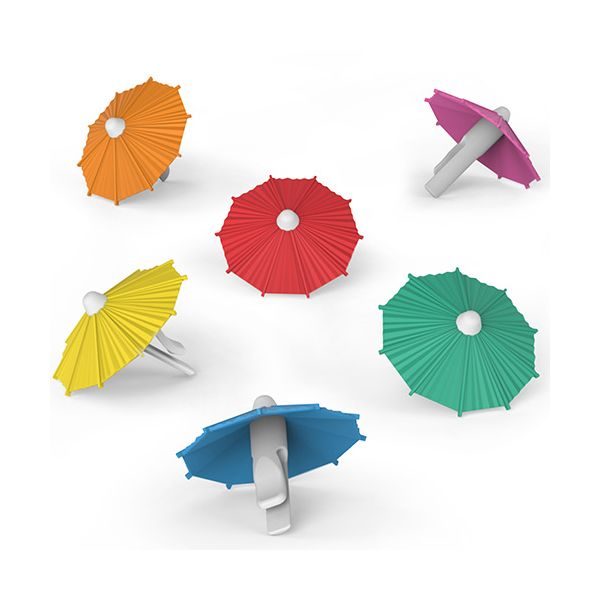 Fred My Tai Set of 6 Cocktail Umbrellas Drink Markers