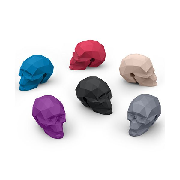 Fred Bar Bones Skull Set of 6 Glass Markers