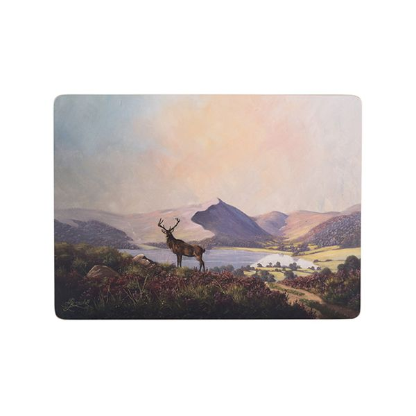 Creative Tops Highland Stag Set Of 4 Large Premium Placemats