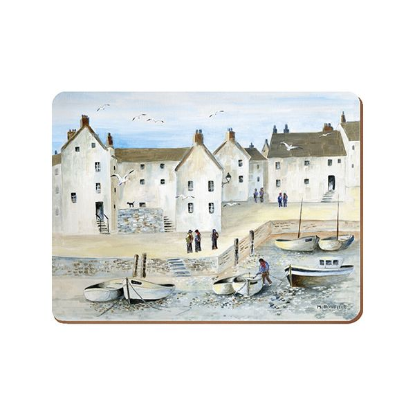 Creative Tops Cornish Harbour Set Of 4 Large Premium Placemats