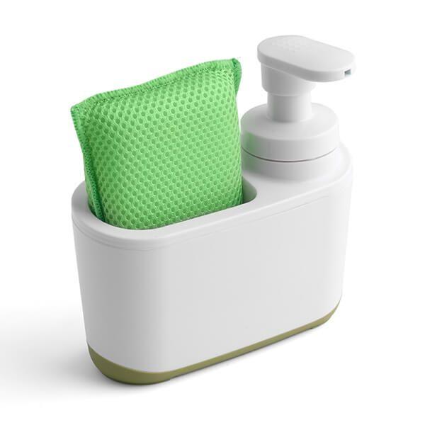 Addis White & Green Soap Dispenser
