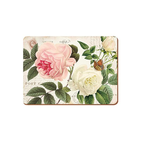 Creative Tops Rose Garden Set Of 6 Premium Table Mats