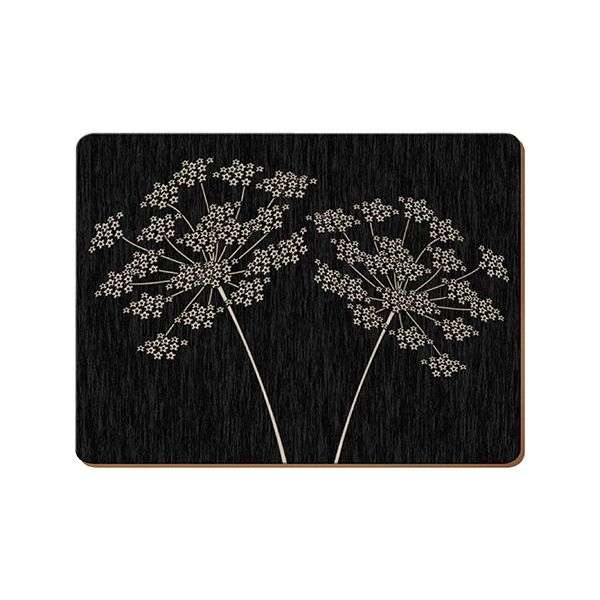 Creative Tops Silhouette Set Of 4 Large Premium Placemats