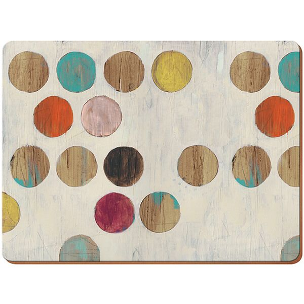 Creative Tops Retro Spot Pack Of 6 Premium Placemats