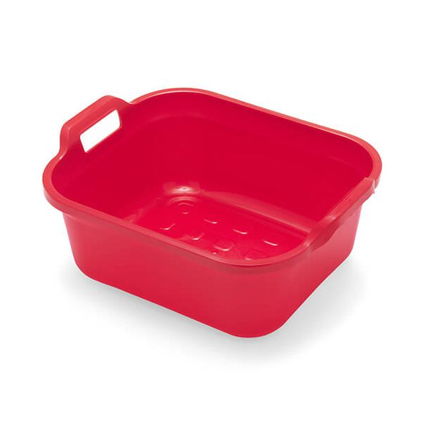 Addis 10 Litre Twin Handled Washing Up Bowl Red