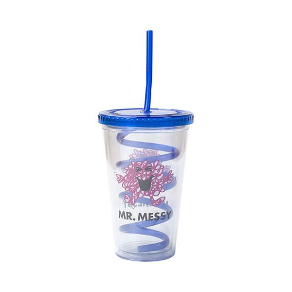 Mr Men Mr Messy Cup With Curly Straw