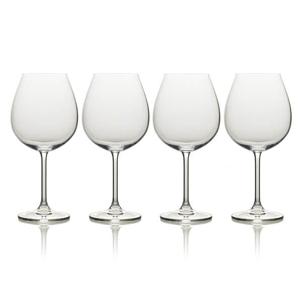 Mikasa Julie Set Of 4 21.5oz Bordeaux Wine Glasses
