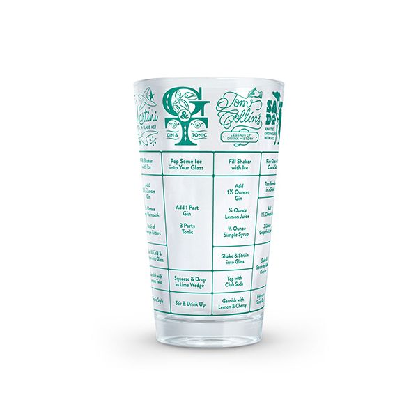 Fred 'Good Measure' Gin Recipe Glass