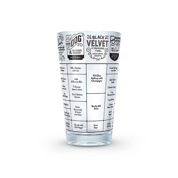 Fred 'Good Measure' Hangover Recipe Glass