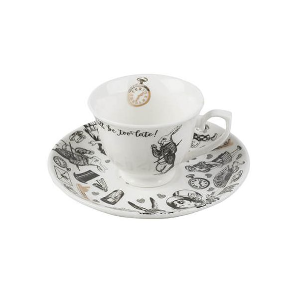 Alice In Wonderland Espresso Cup & Saucer