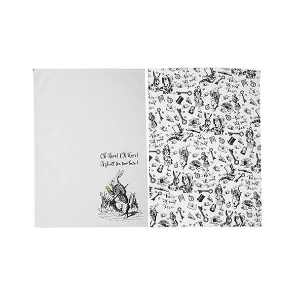Alice In Wonderland Set of 2 Tea Towels