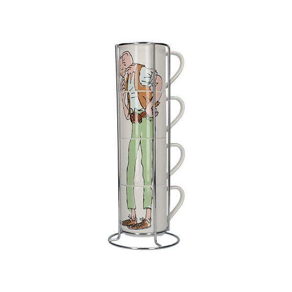 Roald Dahl BFG Set Of 4 Stacking Mugs