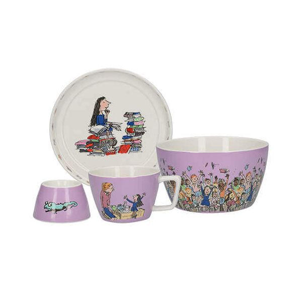 Roald Dahl Matilda 4 Piece Breakfast Stacking Set