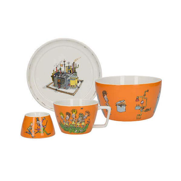 Roald Dahl Charlie & The Chocolate Factory 4 Piece Breakfast Stacking Set