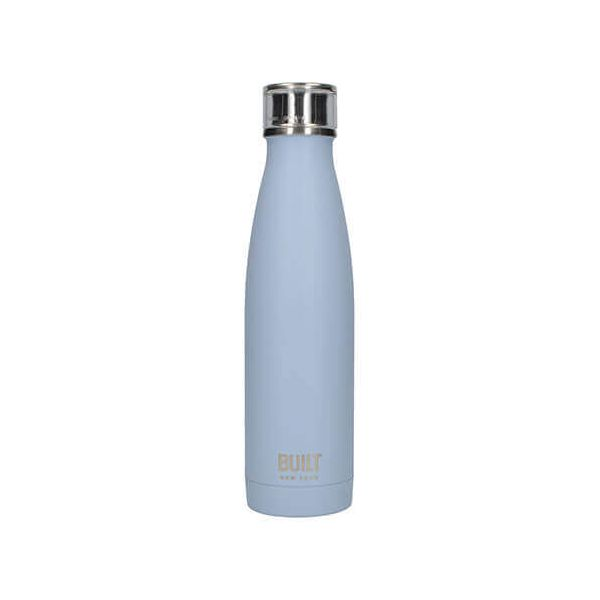 Built 483ml Double Walled Stainless Steel Water Bottle Arctic Blue