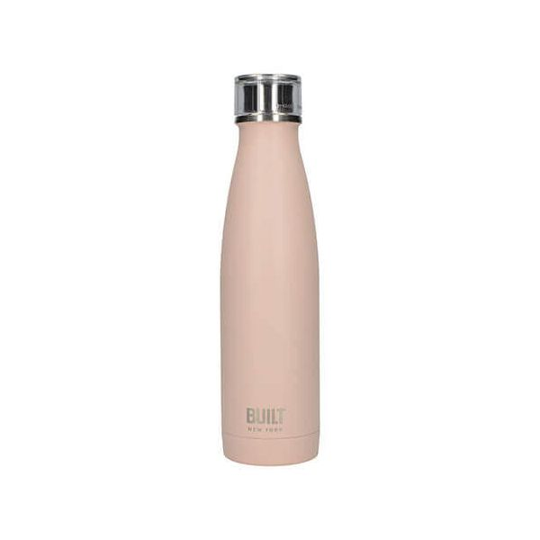 Built 483ml Double Walled Stainless Steel Water Bottle Pale Pink