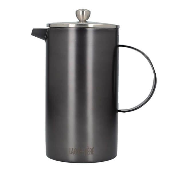La Cafetiere Edited Double Walled 8 Cup Cafetiere Gun Metal Grey