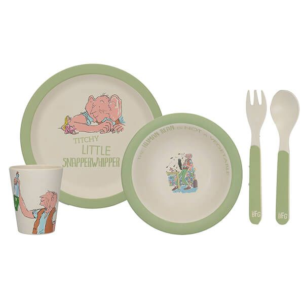 Roald Dahl BFG 4 Piece Pressed Bamboo Dinner Set