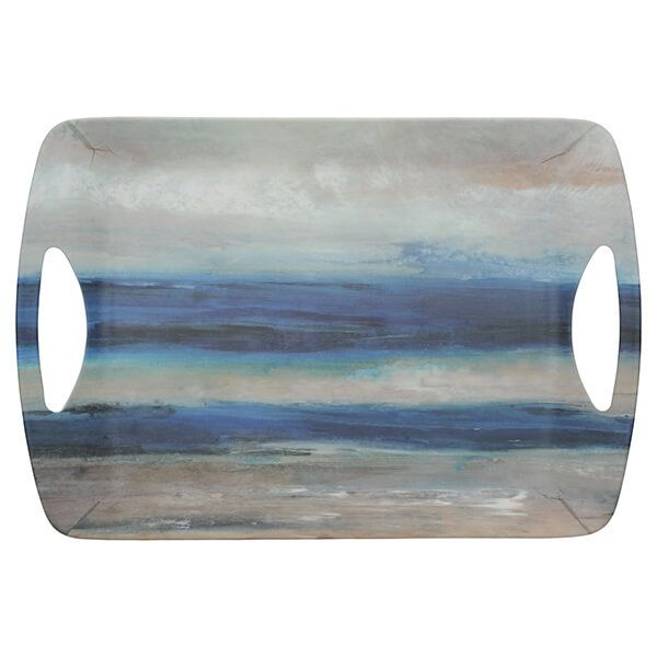 Creative Tops Blue Abstract Large Luxury Handled Tray